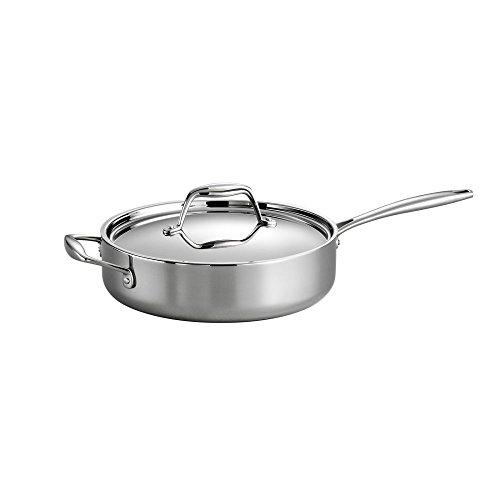Tramontina Gourmet Tri-Ply Clad Covered Deep saute Pan