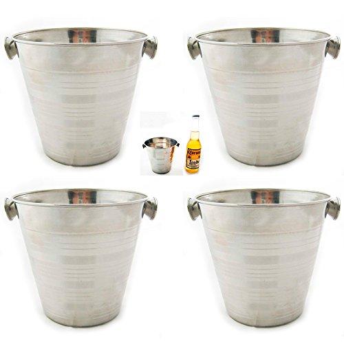4 Stainless Steel Ice Bucket Champagne Wine Pail 32 OZ Bar Restaurant Farm Milk