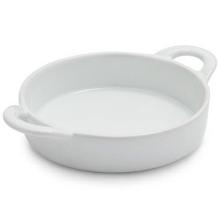 Sur La Table Porcelain Round Creme Brulee Dish with Handles HM0014