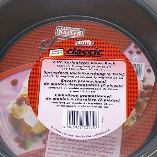 Kaiser Classic 2pc Springform Pan Set 95 8 - Easy Clean