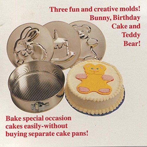 NORPRO 5 Piece Springform Pan Set w Removable Bear Rabbit Birthday Cake Bottoms