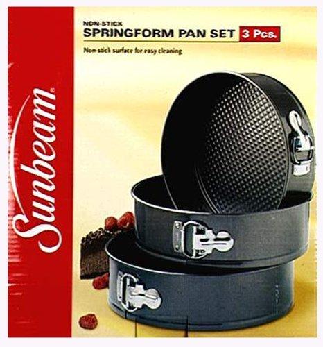 Sunbeam 3-Piece Nonstick Springform Pan Set by Robinson