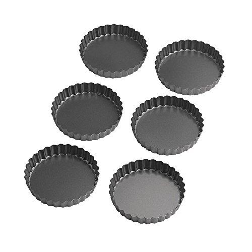 Wilton Round TartQuiche Pan Set of 6 475 Inch