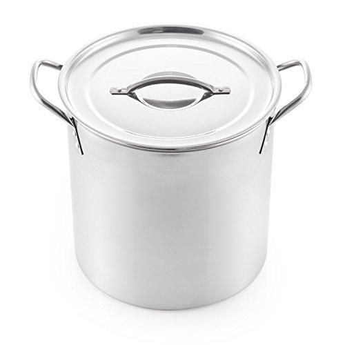 McSunley 607 Medium Stainless Steel Prep N Cook Stockpot 12 quart Metallic