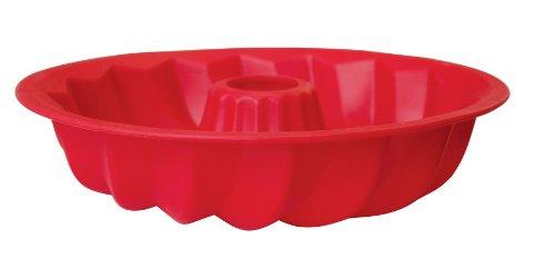 La Patisserie Red Silicone Bundt Pan -1025 inch