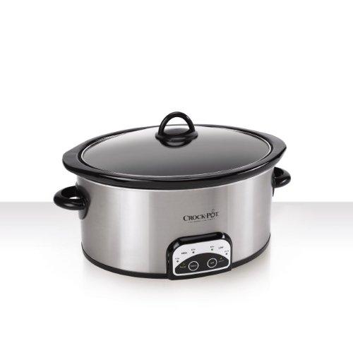 Crock-Pot SCCPVP600-S 6-Quart Smart-Pot Oval Slow Cooker Stainless Steel
