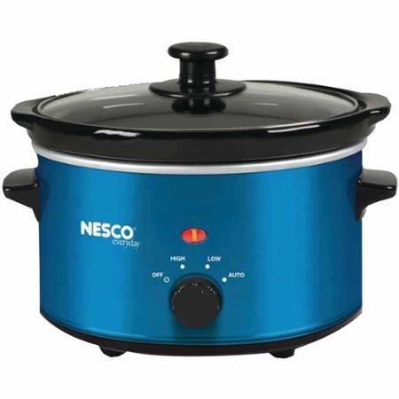 NESCO SC-150B 15-Quart Oval Slow Cooker Metallic Blue