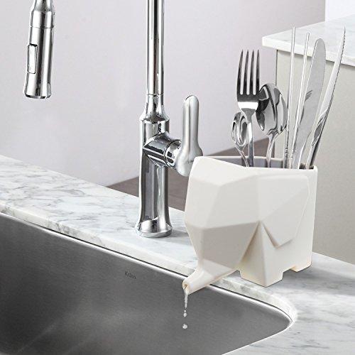 Abstract Cream Color Elephant Design Plastic Bathroom Toothbrush Holder / Kitchen Utensil Drying Rack Jar