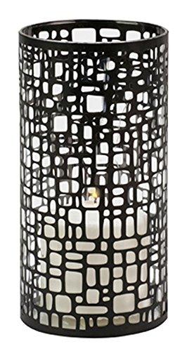 Biedermann Sons Metal and Glass Geometric Pillar Candle Holder