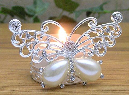 Butterfly Tealight Holder - Silver Metal Filigree Butterfly Design - Silver Candle Holder - Butterfly Decor