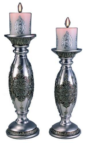 Silver Persian Candleholder Set of 2