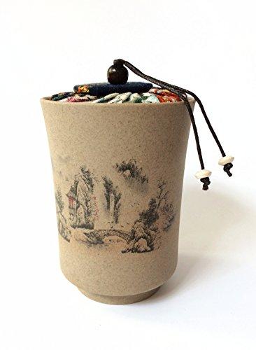 Mini Chinese Ceramic Tea Canister Set Tea Tins Containers Tea Pot  Tea Caddy CR-1
