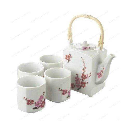 Japanese Sakura Flower Design Tea Set 1 pot 4 cups