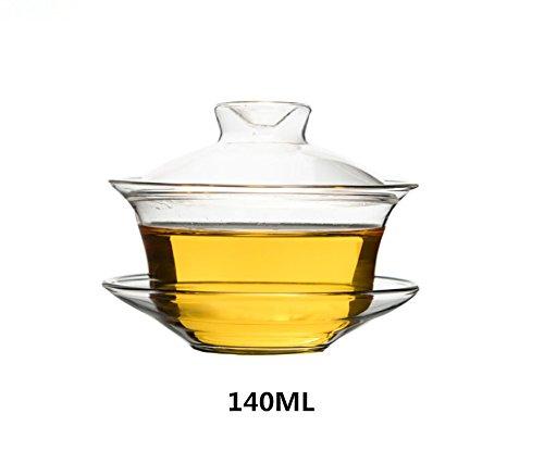 Chinese Style Glass Gaiwan Tea Cup Tea Bowl Coffee CUP 140ml