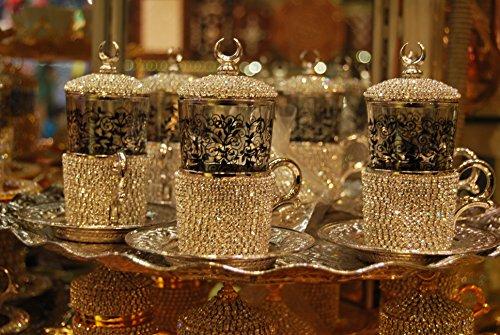 handmade crystal turkish tea setswroveski model turkish tea setturkish tea setarabian tea setmoroccan tea setunique tea set