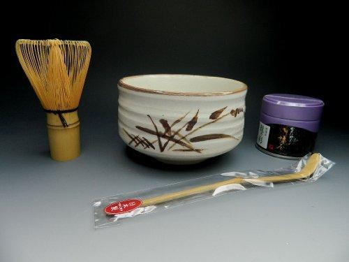 Feel free to smoke green tea set Shino ware of green tea cup with tea utensils