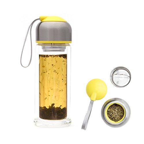 Tea Infuser Travel Mug and Pumeli Mint Green Tea Set