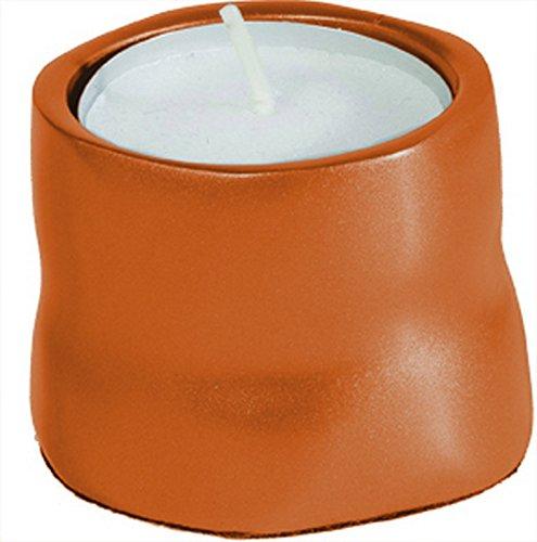 Shabbat Candlesticks Holders - Jewish Set - Yair Emanuel ANODIZES ALUMINUM TCANDLES ORANGE SINGLE Bundle