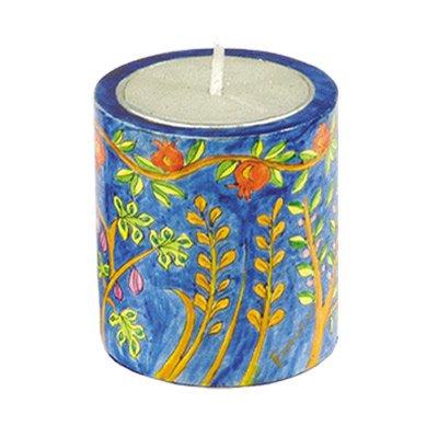 Shabbat Candlesticks Holders - Jewish Set - Yair Emanuel MEMORIAL YAHRZEIT CANDLE HOLDER ORIENTAL Bundle