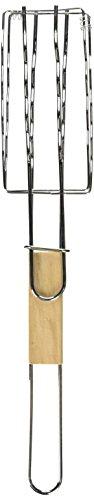 Kole OF806 Sausage Grilling Basket with Wooden Handle Regular