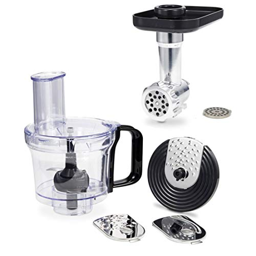 Geek Chef Stand Mixer Accessory Bundle with 26 Quart Food Processor Chopper Attachment and Fine and Coarse Mincer Meat Grinder Attachments