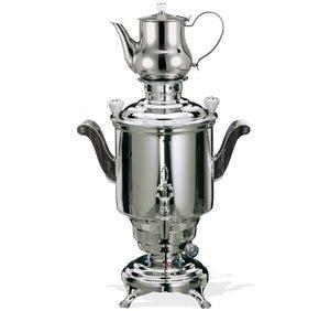 Beem Romanov Iii. Stainless Steel Samovar, 5 Liters, Silver