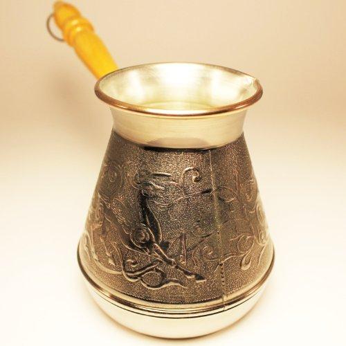 Turkish Greek Coffee Pot Deer Volume 169 Oz - 500 ML Ibrik Briki Cezve Turka