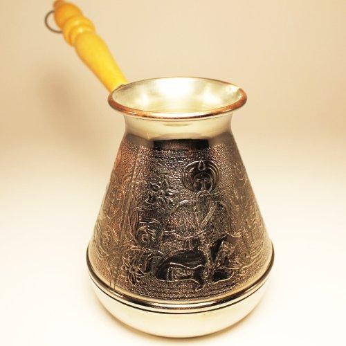 Turkish Greek Coffee Pot East Volume 169 Oz - 500 ML Ibrik Briki Cezve Turka