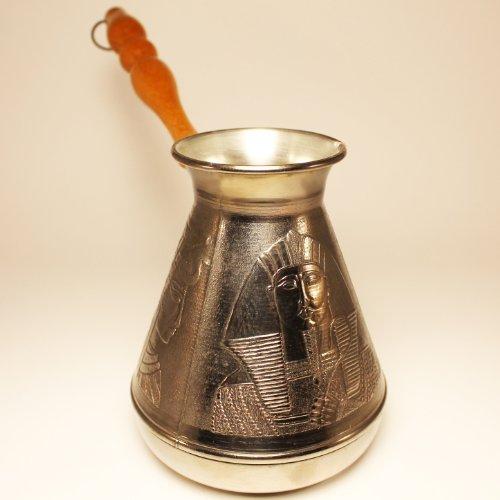 Turkish Greek Coffee Pot Egypt Volume 237 Oz - 700 ML Ibrik Briki Cezve Turka