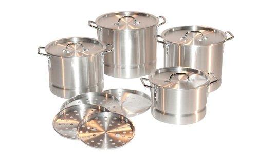Concord 4 Piece Aluminum Stock Pot Set 8121620 Qt