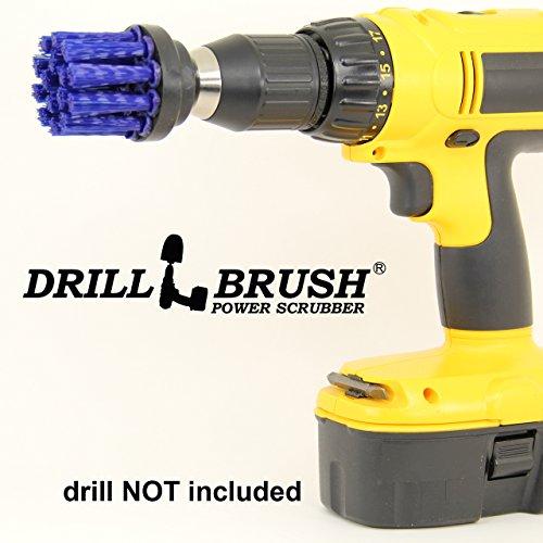 2 Inch Long Bristle Blue Nylon Round Spinning Scrub Brush