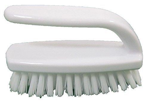 Good Comfort Grip Plastic Nail Stiff Bristles Scrub Brush 34 Long Bristles 4 Long with a Natural Finish