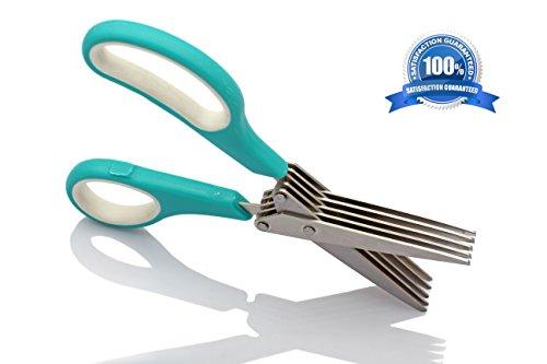 Läcker ★ Special Offer ★ Herb Scissors ★ 1# Best Professional Master Culinary Multipurpose 5-blade Kitchen Shears