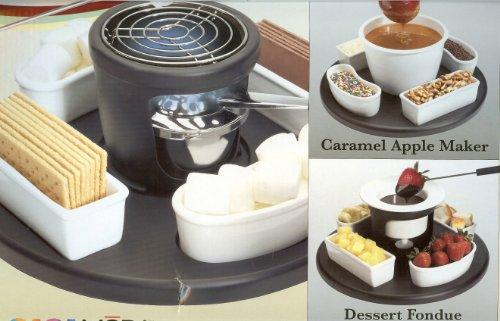Fondue Dessert Smores Maker: Casa Moda 3 Sets In 1 Box ~ Dessert Center ~ S'mores, Chocolate Fondue, Caramel Apples