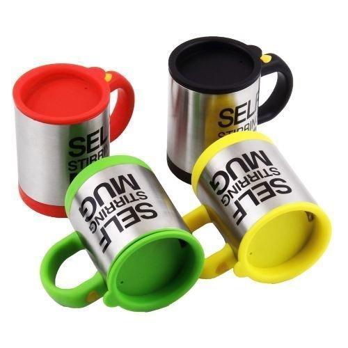 Self Stirring Mug Eamall Auto Self Mixing Stainless Steel Coffee Cup for OfficeKitchenHomeTravel 14oz400mlYellow