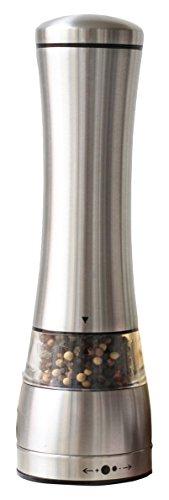 Sage Kitchenware Stainless Steel Black Pepper or Salt Mill Strong Ceramic Grinder Mechanism 85 L