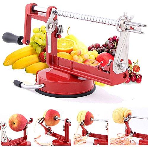 Masione® Apple And Potato Peeler,slicer & Corer / Peel, Slice & Core W/ Suction Base For Everyday Kitchen Use
