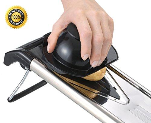 Professional Mandoline Slicer - Potato, Vegetable & Food Mandoline With 5 Stainless Steel V Blades Julienne,grate