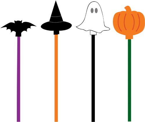 20-Count Assorted Drink Stir Sticks Halloween