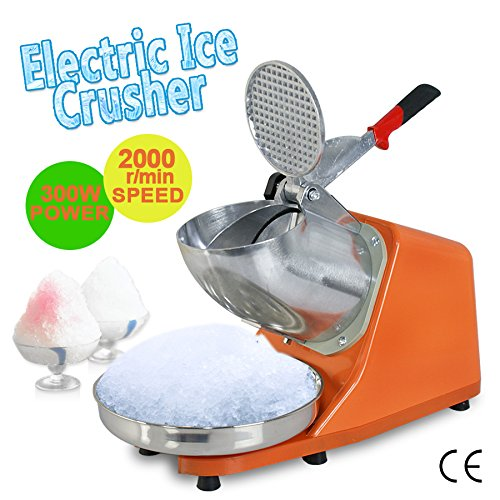 Zeny® 300w 1400r/min Electric Ice Shaver W/ Dual Stainless Steel Blade Shaved Snow Cone Maker Shaving Crusher