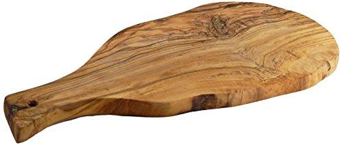 Le Souk Olivique Natural Form Olive Wood Board with Handle Large Natural