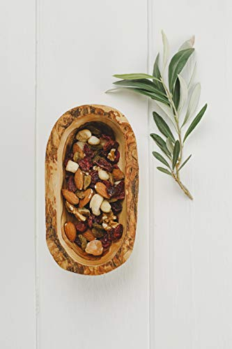 Naturally Med Olive Wood Rustic Bowl