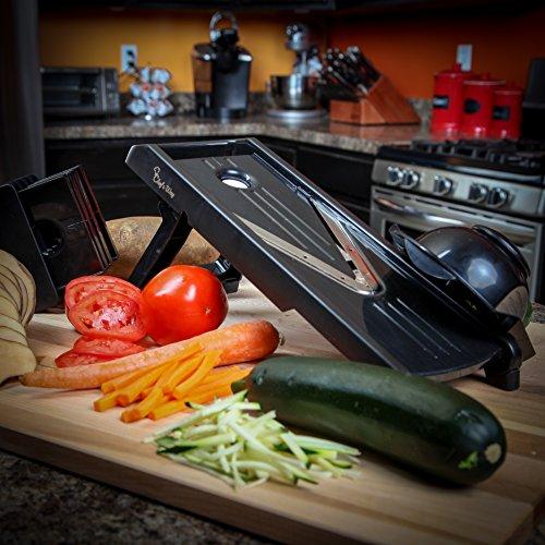 Chef's Way Mandoline Slicer - Professional Kitchen V-slicer + Bonus Grater-zester + Recipes - Vegetable & Fruits