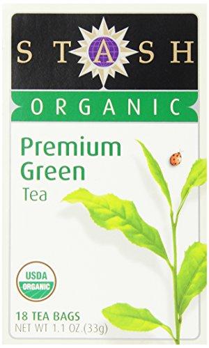 Stash Tea Organic Premium Green Tea 18 Count Tea Bags in Foil Pack of 6