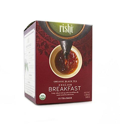 Rishi Tea Organic English Breakfast Tea Bags 15 Count Pack of 6