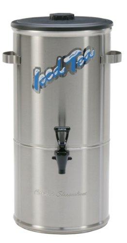 Wilbur Curtis Iced Tea Dispenser 50 Gallon Round Tea Dispenser Short - Designed to Preserve Flavor  - TC-5H-S Each