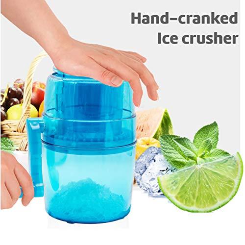Portable Hand Crank Ice Crusher Ice Chopper WZH Crush Ice Chop Ice Chip Ice Manual Ice Grinder Ice Chopper Mini Portable Ice Machine Domestic Ice Crusher for Children