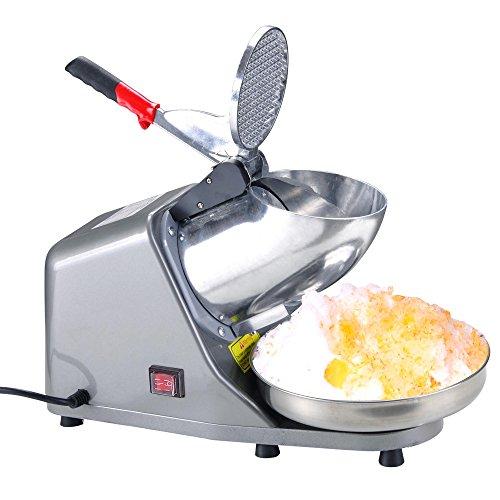 Yescom 300W Electric Ice Shaver Snow Cone Maker Shaving Crusher Machine 1450 rmin 143 lbshr