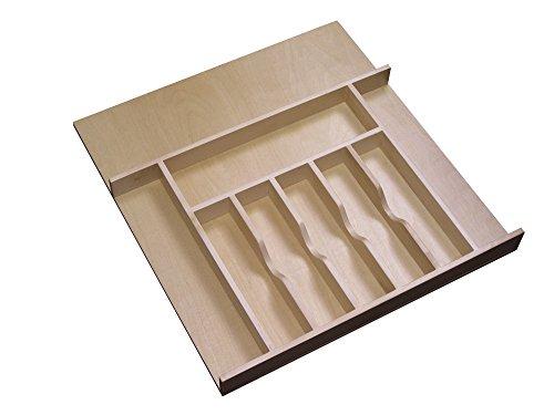 Rev-A-Shelf 4WCT-3 2-78 Wood Cutlery Drawer Insert Large Natural