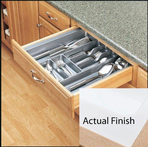 Rev-A-Shelf Extra Large Glossy Cutlery Organizer Drawer White